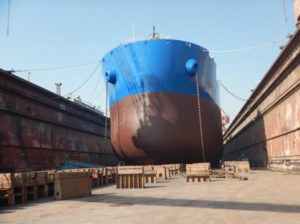 dry docking of ships preparation